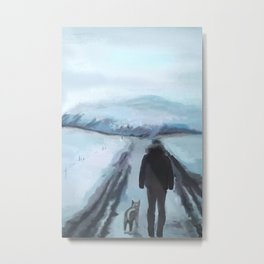 SNOWY ROAD Metal Print