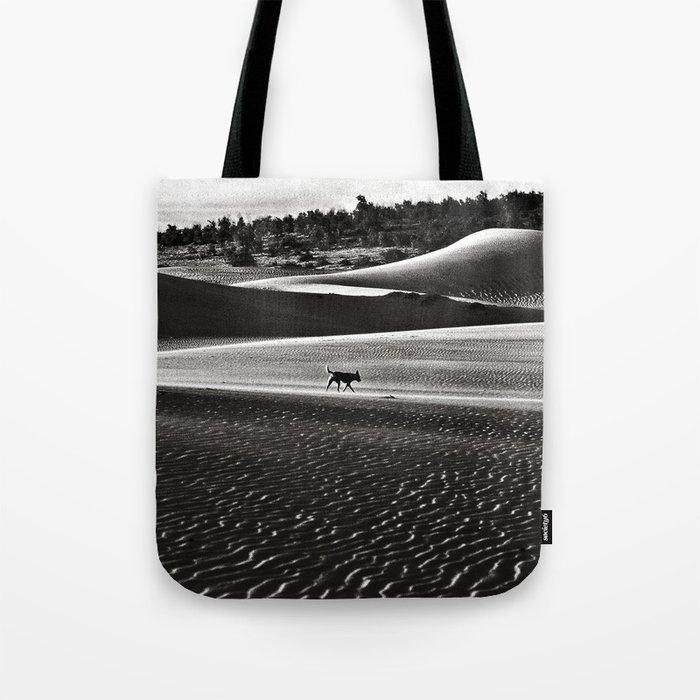 Walking alone through the desert of life Tote Bag