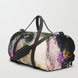english bulldog dog splatter watercolor Duffle Bag