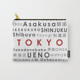 Wards of Tokyo - Famous places in Japan Carry-All Pouch