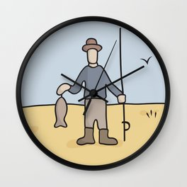 Beavis and Butthead Fisherman picture Wall Clock