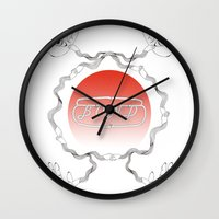 bond Wall Clocks featuring bond by Yukaco Tanaka
