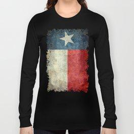 Texas state flag, vintage banner Long Sleeve T-shirt