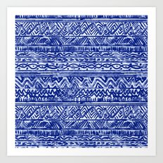 Grunge Stripe Art Print