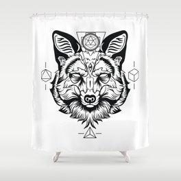 Fox Spirit Animal Shower Curtain