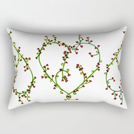 Coeur fleuri Rectangular Pillow
