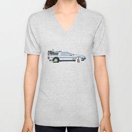 Busted: DeLorean DMC-12 Unisex V-Neck