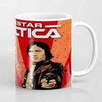battlestar galactica Mugs featuring Battlestar Galactica by Storm Media