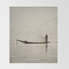 Inle Lake Myanmar Throw Blanket
