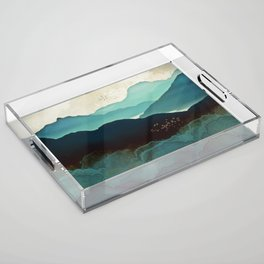 Indigo Mountains Acrylic Tray