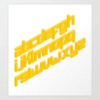 Bricks Fonts Art Print