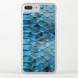 Abstract Blue Snakeskin Scales from Python Clear iPhone Case
