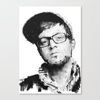john mayer Canvas Prints featuring Mayer Hawthorne by artknocklife