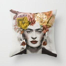 FRIDA FLOWERS Throw Pillow
