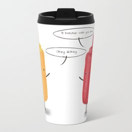 Mustard & Ketchup. Metal Travel Mug
