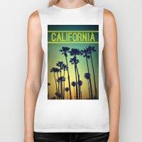 california Biker Tanks featuring CALIFORNIA by RichCaspian