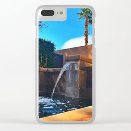Desert Relaxation Clear iPhone Case