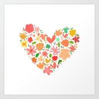 Spring Heart Art Print