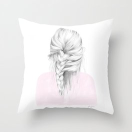 Braid in pink Throw Pillow