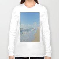 denmark Long Sleeve T-shirts featuring North sea coastline in Denmark by Ricarda Balistreri