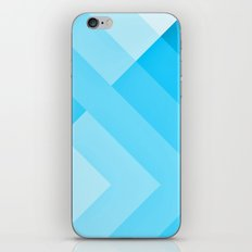 Turquoise blue  Gradient iPhone & iPod Skin
