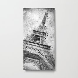 Modern Art EIFFEL TOWER   watercolor monochrome Metal Print