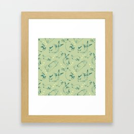 Bunny pattern Framed Art Print