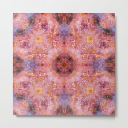 Cosmic Light Mandala Metal Print