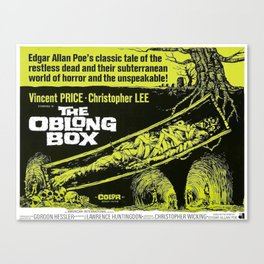 The Oblong Box, vintage horror movie poster Canvas Print