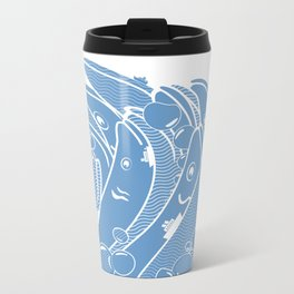 The Ocean is Alive Metal Travel Mug