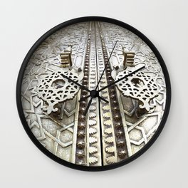 Marocco Door Mosaic Style Design Metal Wall Clock