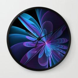Fractal Radiant Beauty Wall Clock