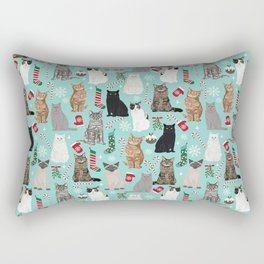 Catsmas cat christmas gifts pet friendly pet portraits holiday cat lady must haves Rectangular Pillow