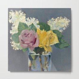 """Édouard Manet """"Lilas et roses"""" Metal Print"""