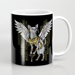 Bastet Egyptian Cat Goddess Hieroglyphs Ankh Coffee Mug