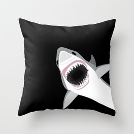 Shark Attack Out of the Deep Throw Pillow