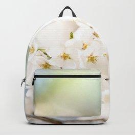 White Cherry Blossom Backpack