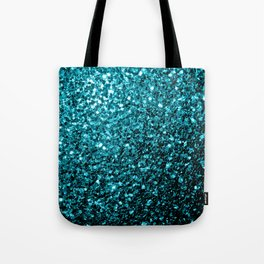 Beautiful Aqua blue glitter sparkles Tote Bag