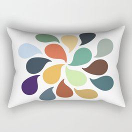 Colorful Water Drops Rectangular Pillow