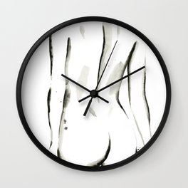 Black on White Nude No.2 Wall Clock