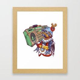 Tezcatlipoca Old School Hip Hop Framed Art Print