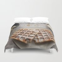 breakfast Duvet Covers featuring breakfast by LainPhotography