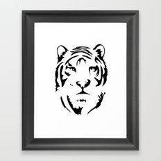 Minimalistic Tiger Face Framed Art Print