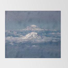 Mount Adams Mt Rainier - PNW Mountains Throw Blanket
