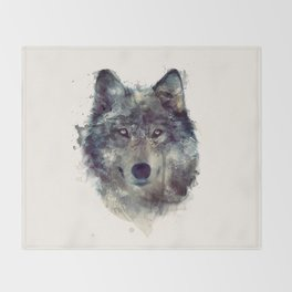 Wolf // Persevere  Throw Blanket