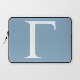 Greek letter Gamma sign on placid blue background Laptop Sleeve