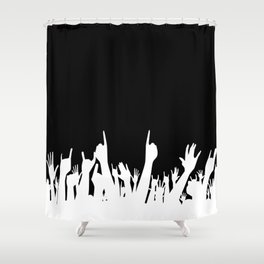 Audience Poster Background Shower Curtain