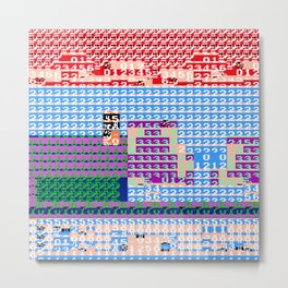 > NES v3 Metal Print