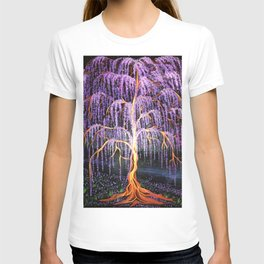 Electric Wisteria Willow Tree T-shirt