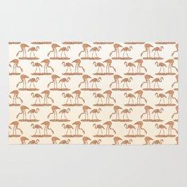 Gold Leaf Flamingo Pattern Rug